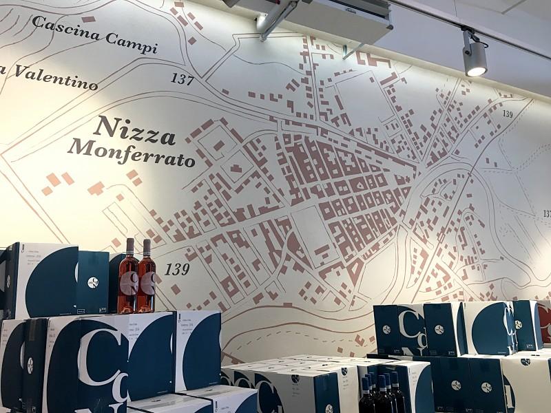 Cantina di Nizza | Decorazione murale punto vendita
